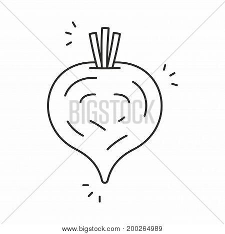 Beet line icon on white background. Vector illustration.