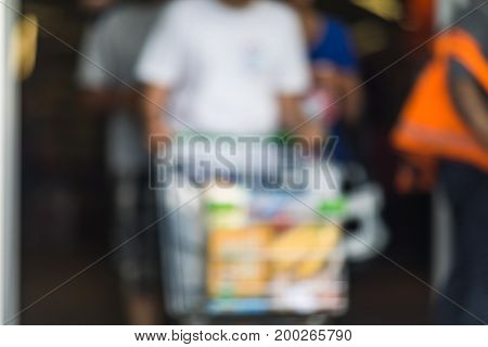 Abstract Blurred Image.  Blur Shopping Mall Store Interior For Background