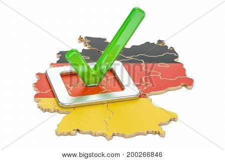 German election concept vote in Germany 3D rendering isolated on white background