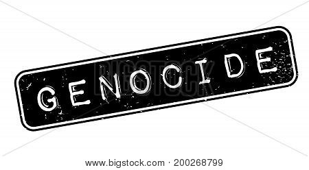 Genocide rubber stamp. Grunge design with dust scratches. Effects can be easily removed for a clean, crisp look. Color is easily changed.