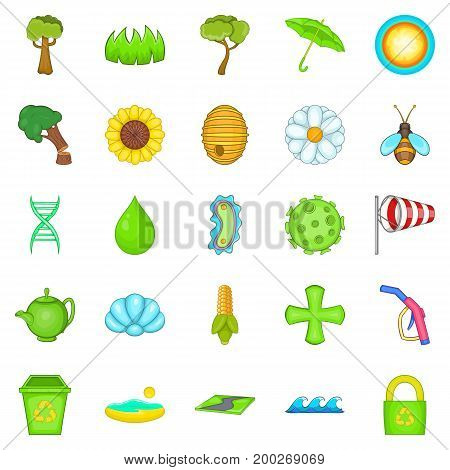Care of nature icons set. Cartoon set of 25 care of nature vector icons for web isolated on white background