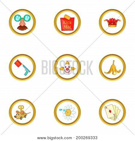 Toy icons set. Cartoon illustration of 9 toy vector icons for web design