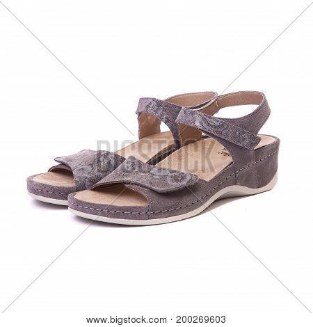 Orthopedic Female Shoes White Isolated Background