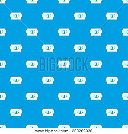 Help pattern repeat seamless in blue color for any design. Vector geometric illustration