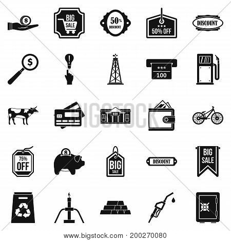 Prudence icons set. Simple set of 25 prudence vector icons for web isolated on white background