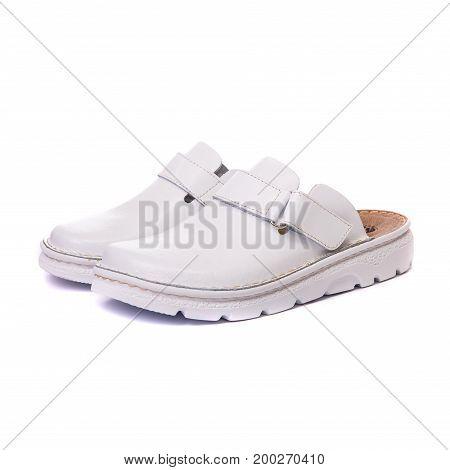 Orthopedic Male Shoes White Isolated Background