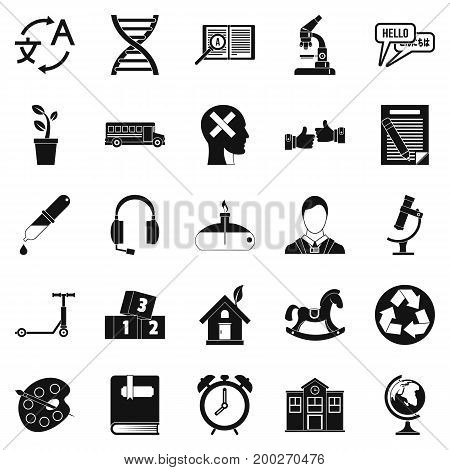 New discoveries icons set. Simple set of 25 new discoveries vector icons for web isolated on white background