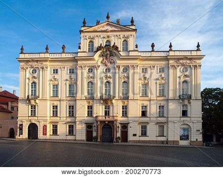Archbishop Palace at Hradcany Square near Prague Castle, Prague, Czech Republic.