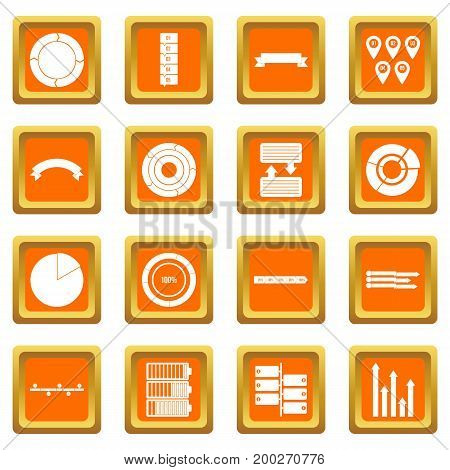 Various people icons set in orange color isolated vector illustration for web and any design