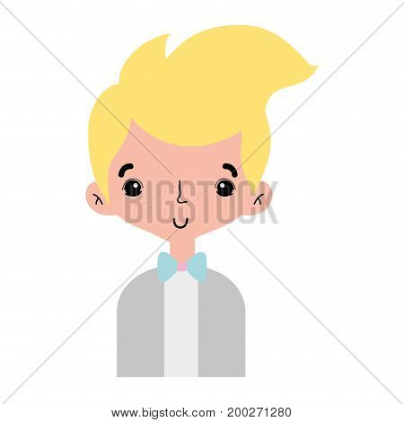 nice boy with elegant suit and hairstyle design vector illusration
