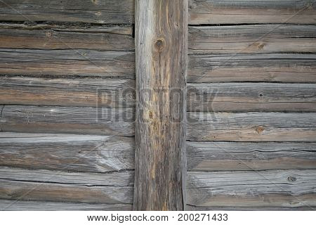 Wooden wall of rustic home background