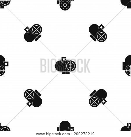 Industrial fan heater pattern repeat seamless in black color for any design. Vector geometric illustration