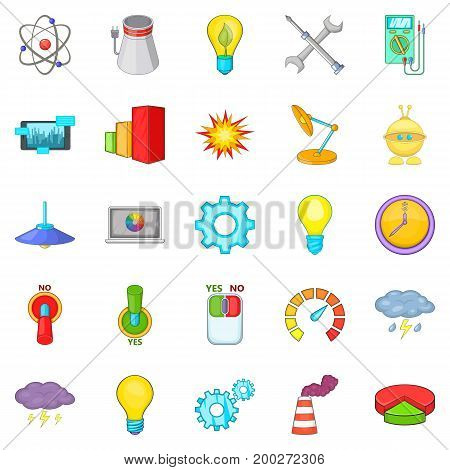 Lamp icons set. Cartoon set of 25 lamp vector icons for web isolated on white background