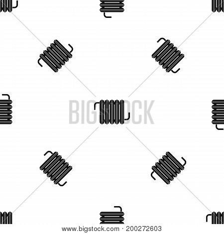 Radiator pattern repeat seamless in black color for any design. Vector geometric illustration