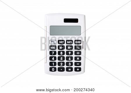 School Calculator Isolated On White Background