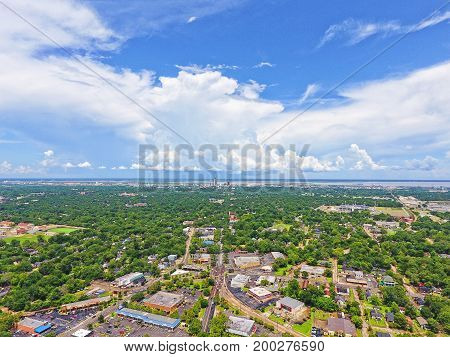 Skyline of downtown Mobile taken from above midtown