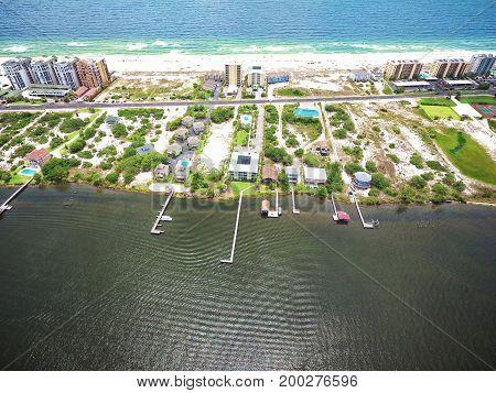 Perdido Key Beach, Florida and Ole River