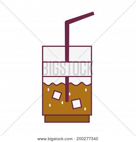 delicious coffe espresso glass vector illustration icon