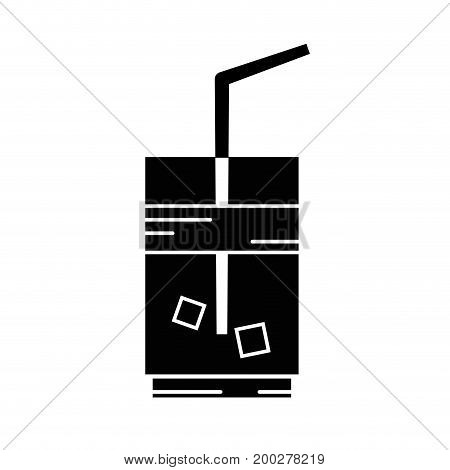 contour delicious coffe espresso glass vector illustration icon