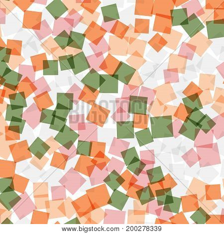 Abstract Squares Pattern. White Geometric Background. Lovely Random Squares. Geometric Chaotic Decor