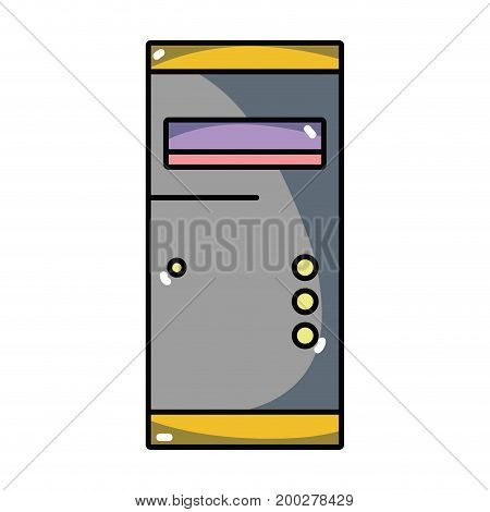 technology hard drive electronic element vector illustration