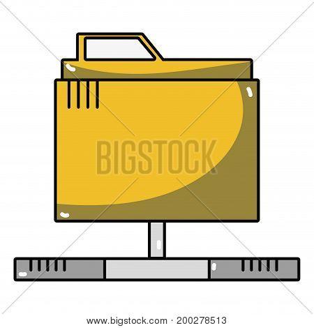 technology data file folder server vector illustration