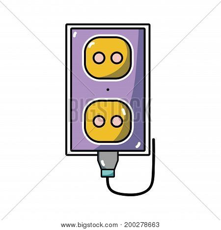 electric plug power technology connect vector illustration
