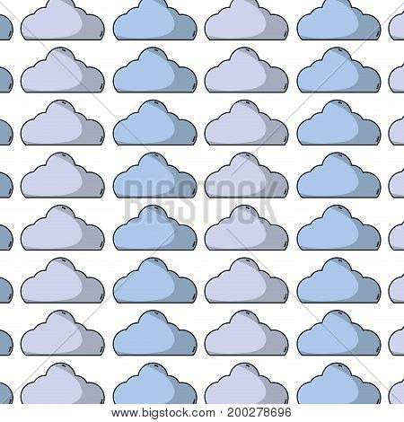 nice cloud natural weather day background vector illustration