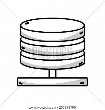 line database technology to conection server information vector illustration