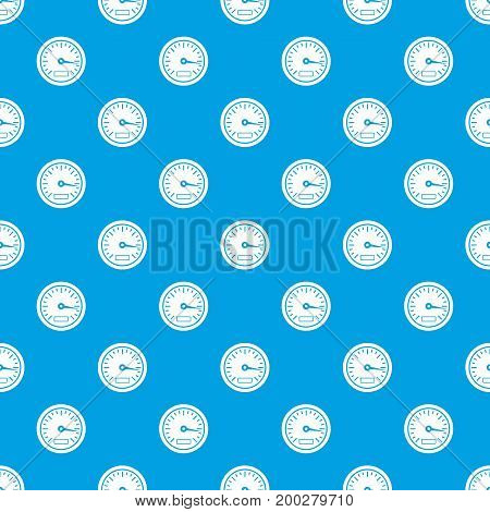 Speedometer pattern repeat seamless in blue color for any design. Vector geometric illustration
