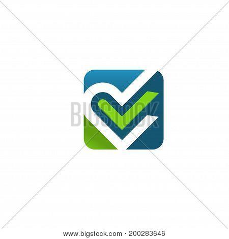 Heart logo. Love, check, health doctor relations. Heart logo heart together. Family children