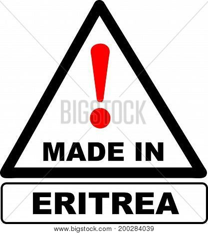 An industrial stamp made in Eritrea. Vector illustration.