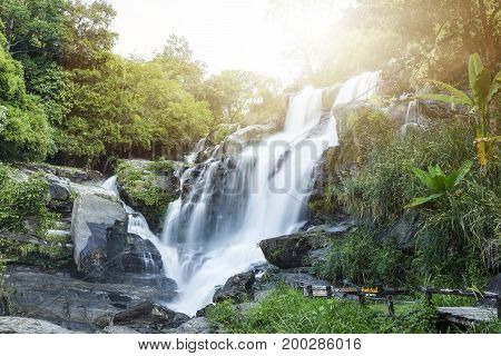 Mae Klang Waterfall In Doi-inthanon, Chiangmai Thailand