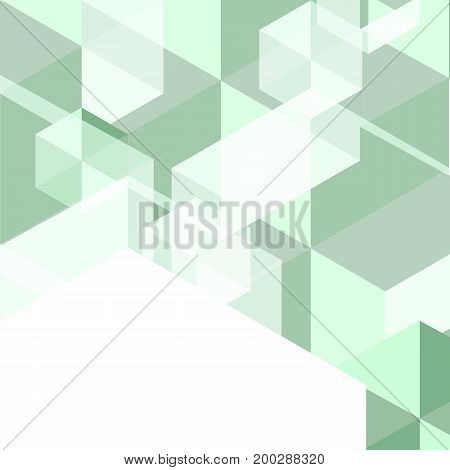 Green polygon created abstract background stock vector