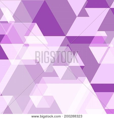 Violet polygon created abstract background stock vector