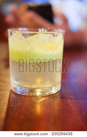 Apple juice in glass healthy juice in glass