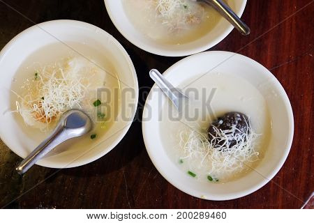 Congee is a type of rice porridge or gruel popular in many Asian countries.
