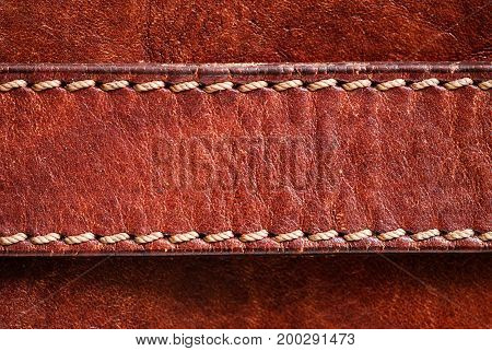 Leather background with excellent texture for design  and a leather belt