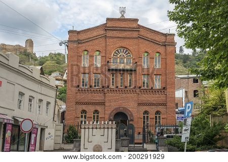 Tbilisi, Georgia - Juny 8, 2017: Georgian Synagogue is also known as the Great Synagogue. It was founded by Jews from Akhalzikhe, who settled in Tbilisi in the late 19th century, Georgia