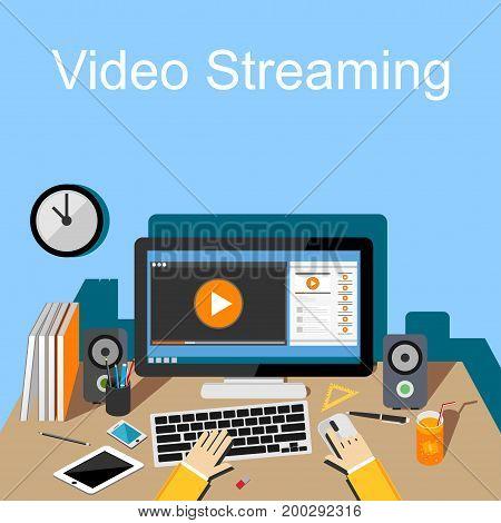 Online Video, Video streaming, Vlog, Video blogging, Movie Player. Video Tutorial.