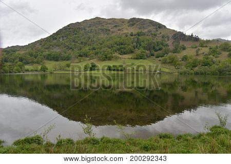 Nab Scar reflected in Rydalwater, English Lake District