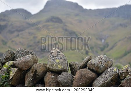 Drystone wall in Great Langdale, English Lake District