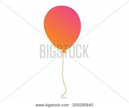 Vector Pastel Gradient Pink To Orange Gathering Event Air Balloon