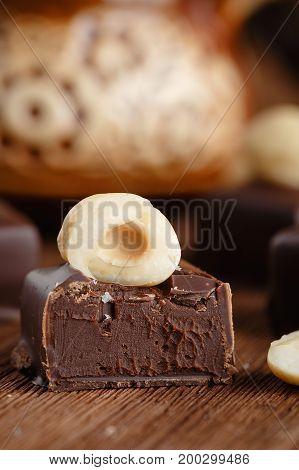 Cut Hazelnut Cahocolate Candy