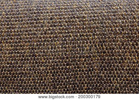 Background Pattern Dark Brown Handicraft Weave Texture Wicker Surface for Furniture Material.