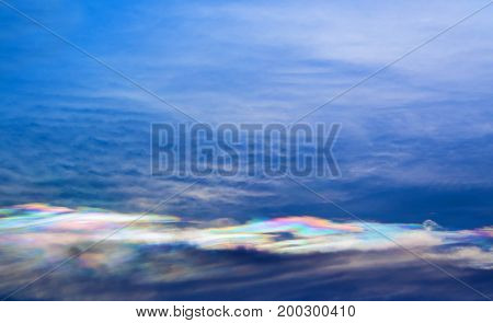 Cloud Iridescence, The Occurrence Of Colors In A Cloud