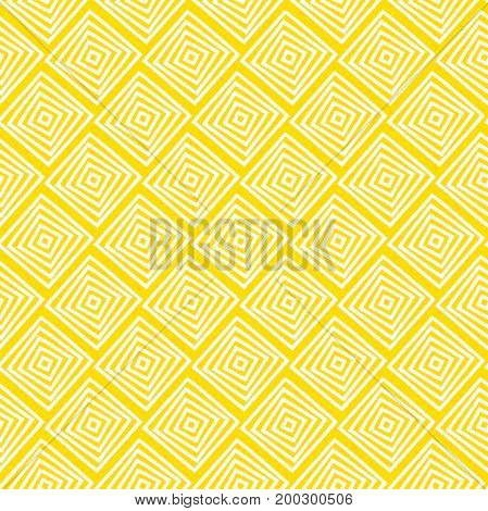 Rhombus seamless pattern.Modern stylish texture.Yellow and white