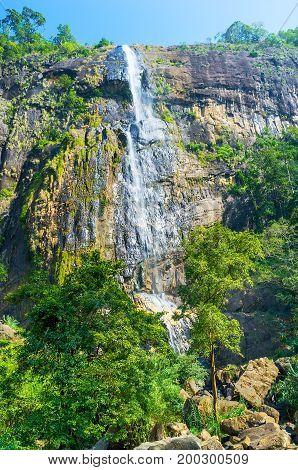 The Diyaluma Falls In Koslanda