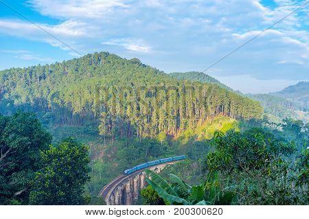 Train On The Bridge In Ella