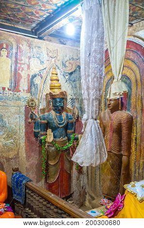 Lord Vishnu In Buddhist Temple In Battala